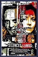 ポスター ジェームス リーム デービス Teh Silence of The Lambs (羊たちの沈黙 )限定66枚 手書きナンバリング/サイン入り 額装品 ウッドベーシックフレーム(ブルー)