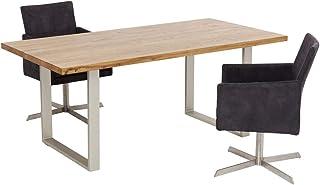 Kare Design Table Jackie chêne Argent 200x100cm