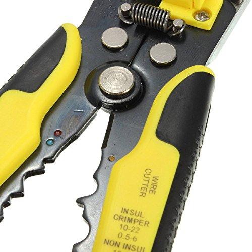 『Drillpro 自動ワイヤーストリッパー オートマルチストリッパ ストリップ線径自動調整 絶縁 0.2~6.0mm2 黄色』のトップ画像