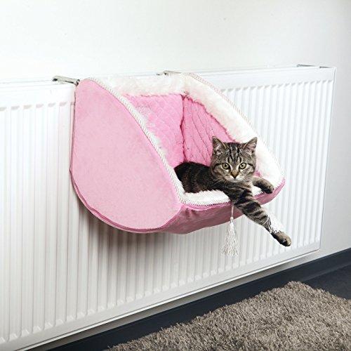 Cat Princess Katzen Liegemulde für Heizkörper, 38 × 30 × 38 cm, rosa