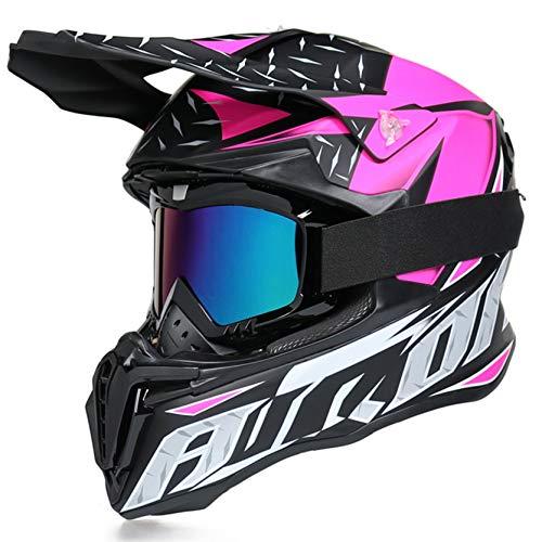Cascos de Motocross para Hombre, Casco Todoterreno, Casco Integral de Moto, Gorras de Seguridad para Carreras de Motos