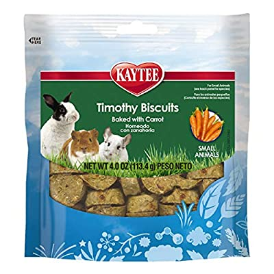 Kaytee Timothy Biscuits Baked Carrot Treat, 4-Oz Bag by Central Garden & Pet