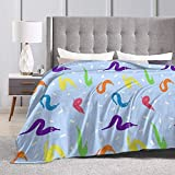 KAGOU Worm On A String Babey! Ultra-Soft Micro Fleece Blanket Couch 50' X40