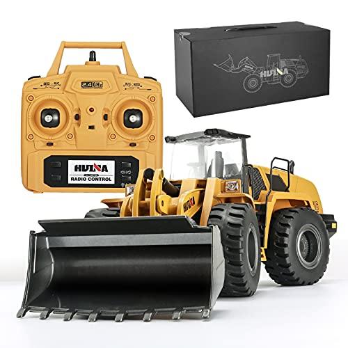 XIAOKUKU Cargador de Metal RC, Gran Tractor de Juguete con Control Remoto...