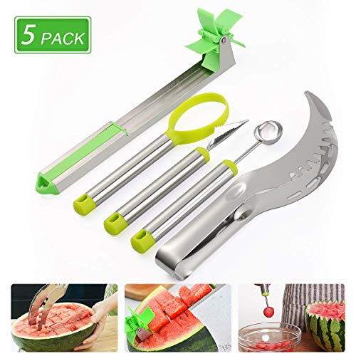 Gayisic 5 Pack Watermelon Windmill Cutter,...