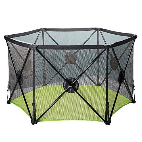 Zfggd Pop Up Et Sécurisé Easy Fold Playpen Portable Baby Play Yard, Centre D'activité pour Enfants Intérieure Et Extérieure Sécurité Game Fence (Color : Green)