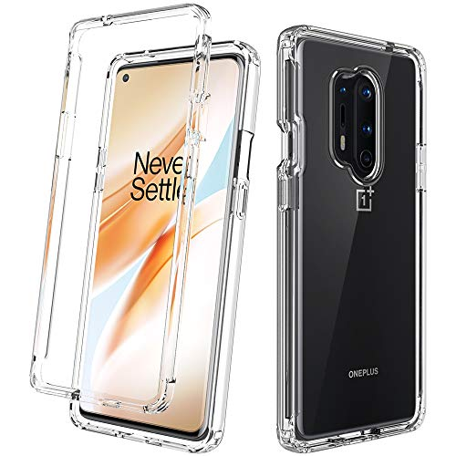 Dahkoiz Oneplus 8 Pro Case, Clear Crystal TPU Bumper Cover with Reinforced Front Frame Slim Shockproof Protective Phone Case for Oneplus 8 Pro/8pro, Clear