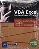 VBA Excel (version 2019 et office 365) : Coffret de 2 livres...