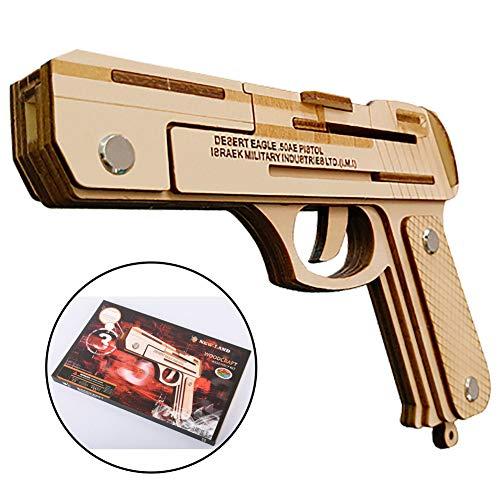 AIWKR Puzzles 3D, Forma De Pistola Kits de Construcción de Modelos para Adultos y niños, Corte por Láser Juguetes Educativos para Niños 23Piezas