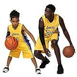 XCR Kids Boys Girls Men Adultos NBA Kobe Bean Bryant #24 LA Lakers RETRO Camisetas de baloncesto de verano Kits Top+Shorts 1 Set, morado, 2XL (Kids)