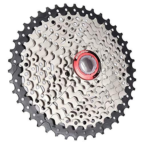 Bolany 【UK Stock】 Cassette de vélo VTT 8/9/10/11 vitesses 11-40/42/46/50T en acier pour vélo de montagne, vélo de route Shimano/SRAM/FSA/Campagnolo/KMC XC AM DH, 10S-11-50T