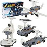Solar Robot Kit 4-in-1 Educational Stem Robot Toys for Kids Aged 8-12, Science Building Set Gift for Boys Girls Students Teens, DIY Assembly Kit with Solar Powered