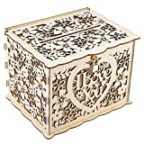 EVTSCAN Wedding Card Box, Wedding Decorations for Reception, Wedding Card Box with Keys DIY Money Gift Box for Birthday Party