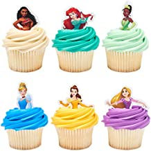 PRECUT Disney Princess Pocahonta 12 Edible Cupcake Toppers Party Decorations