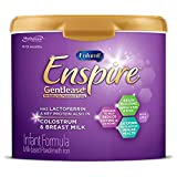 Enfamil Enspire Gentlease Baby Formula with Lactofrerrin, Non-GMO, and MFGM for Brain Support and Immune Health, Reduces Fussiness, Crying, Gas & Spit-up in 24 hours, Powder Tub, 19.5 Oz