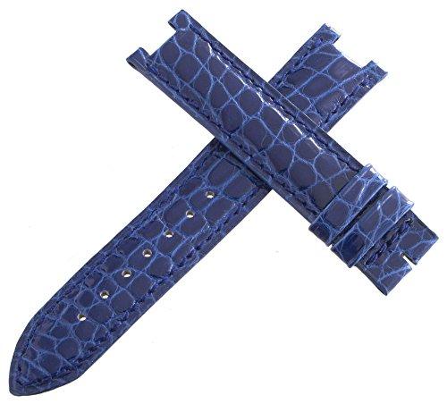 Jaeger Lecoultre OEM blu Alligatore pelle Watch cinturino 16mm x 16mm