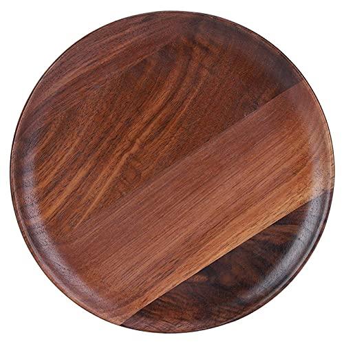 Platos de madera, platos para servir, cargadores de madera para platos de cena, cubiertos de cocina para el hogar, vajilla, 20x20x2 cm / 7,9x7,9x0,8 pulgadas