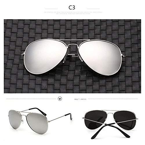 XYLZDPZ Syczdnmj Aviador clásicas Gafas de Sol polarizadas Ultra Ligero Flexibles Aviador Gafas de Sol Gafas de Sol Hombre (Color : Silver Silver)