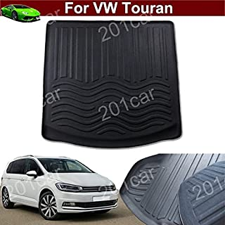Kaitian 1pcs New Leather Car Rear Trunk Cargo Mat Cargo Liner Cargo Tray Boot Mat Boot Liner Boot Tray Custom Fit for VW Touran 2008 2009 2010 2011 2012 2013 2014 2015 2016 2017 2018 2019