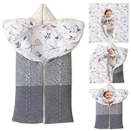 Cochecito Manta recién Nacido Abrigo de Invierno del Cabo Saco de Dormir para los 0-12 Meses de Invierno Bolsa de Dormir del bebé bebé,Cream