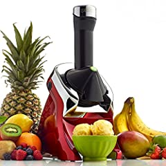 """Fruit soft serve machine: easily create yummy vegan tasting treats by adding any combination of chocolate, or fruits like over-ripe bananas, berries, or mango to the chute for a smooth """"ice-cream"""" Like taste. Healthy goodness: with Yonanas, you can i..."""