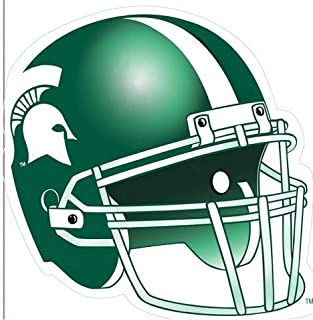 5 inch Football Helmet Decal MSU Michigan State University Spartans Logo Removable Wall Sticker Art NCAA Home Room Decor 5 by 5 inches