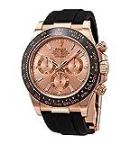 Rolex Cosmograph Daytona Pink Diamond Dial Men's Chronograph Oysterflex Watch 116515PKDR