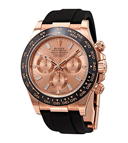 Rolex Cosmograph Daytona Pink Diamond Dial Men's Chronograph Oysterflex Watch 116515PKDR