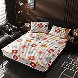 XGguo Protector de colchón - Protector de colchón antialérgico Sábana Gruesa de una Sola Pieza Antideslizante-7_120 × 200cm