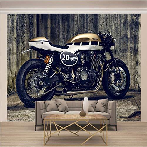 Psifound® 3D Wandbild Selbstklebende Tapete 250X175Cm Retro Modern Motorrad 3D Wandaufkleber Diy Kinderzimmer Tapete Poster Fototapete Junge Mädchen Schlafzimmer Geschenk Dekoration