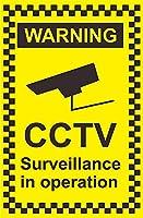 操作中のCCTV監視の警告 金属板ブリキ看板警告サイン注意サイン表示パネル情報サイン金属安全サイン