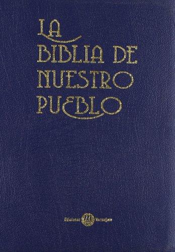 La biblia de nuestro pueblo. Estuche de piel azul con cierre