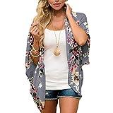 ECOMBOS Damen Florale Kimono Cardigan - Chiffon Tops Cardigan Bluse Shawl Sommer Beachwear Cover up...