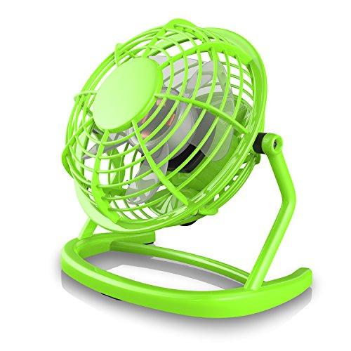CSL - USB Ventilator - Tischventilator Fan Lüfter - optimal für den Schreibtisch inkl. An Aus-Schalter - PC MAC Notebook - in grün