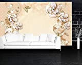 Europäische Luxus Reiche Juwel Blume Wandbilder 3D Tapete Wohnzimmer Schlafzimmer Sofa Tv Wand...