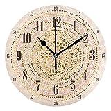FFY Go Reloj de Pared con diseño de Mandala de Oro Rosa, para decoración del hogar, Ideal como Regalo para Sala de Estar, Dormitorio, baño, Cocina
