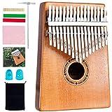 EastRock Kalimba, 17 touches piano à pouce, facile à apprendre, cadeaux d'instruments de musique portables pour enfants débutants adultes Kalimba avec marteau d'accord et instruction d'étude