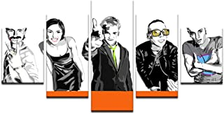 AIXYX 5 Panel Abstract Oil Painting Trainspotting Movie Characters Poster Wall Art Poster for Home Decor Silk Canvas Painting-30x40cmx2,30x60cmx2,30x80cmx1