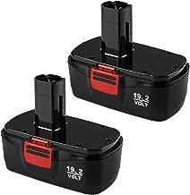 Amsbat 2-Pack Replacement for Craftsman 19.2 Volt 3.0Ah Battery DieHard C3 1323903 130279005 130279003 130279017 1323517 11375 315.11375 315.11485 315.113753 315.115410