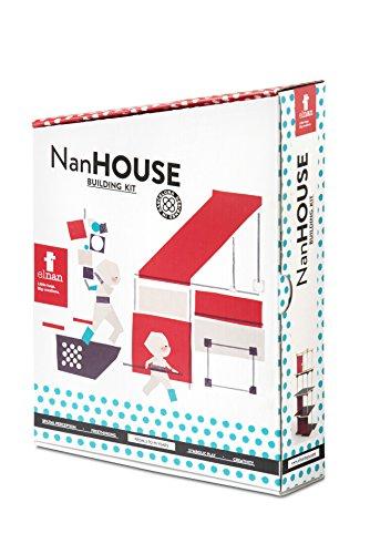 El Nan House Construcción Casa Diferentes Tipos de Piezas, Formas y Materiales | Juego Creativo (V30)