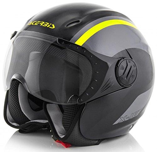 Acerbis casco k-jet nero/giallo xxl