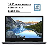 2020 Dell Inspiron 14 5482 14 Inch FHD 2-in-1 Touchscreen Laptop (Intel Core i7-8565U up to 4.6 GHz, 8GB RAM, 256GB SSD, Backlit Keyboard, Bluetooth, WiFi, HDMI, Windows 10, Grey) (Renewed)