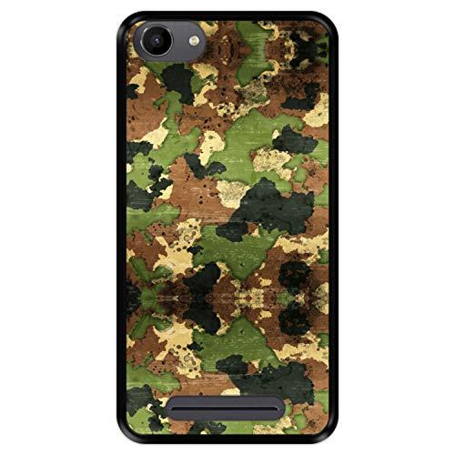 Hapdey silikon Hülle für [ Wiko Jerry - Lenny 3 - K-Kool ] Design [ Militärische Tarnung ] Schwarze Flexibles TPU