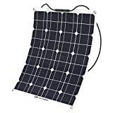 ALLPOWERS 50W 18V 12V Solar Panel Charger Water/Shock/Dust Resistant Solar Charger for RV, Boat, Cabin, Tent, or Any Other Irregular Surface