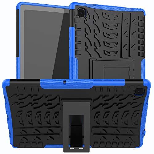 XITODA Custodia per Samsung Galaxy Tab A7 10.4 2021 - Protezione in Silicone & PC Duro Stand Cover per Samsung Galaxy Tab A7 LTE WiFi SM-T500/T505/T507 10,4 Pollici Tablet,B-Blu Scuro
