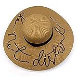 Sombrero de paja plegable para mujer, para despedida de solt
