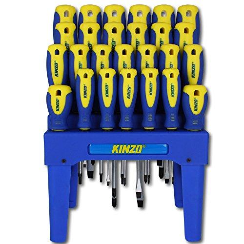 Kinzo Schraubendreher Set 26tlg. im Aufbewahrungsständer - Schraubenzieher Set - Werkzeugset - 2
