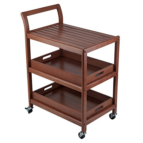 Winsome Wood 94138 Albert Entertainment Kitchen Cart