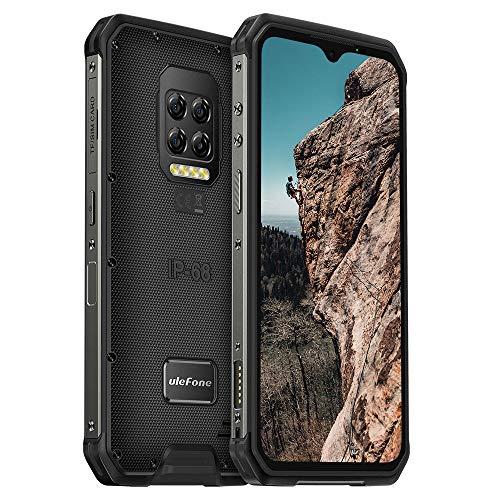 "Ulefone Armor 9E (2020), 4G Móvil Resistente, Helio P90 Octa Core 8GB RAM + 128GB ROM, cámara 64MP, FHD+ 6.3"", Robusto Smartphone Android 10 IP68, Batería 6600mAh, NFC"