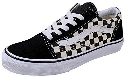 Vans Unisex-Skate-Schuhe, Old Skool Classic, (Primärkaro, Schwarz / Weiß), 30 EU